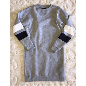 Topshop Crew Neck Sweater Dress